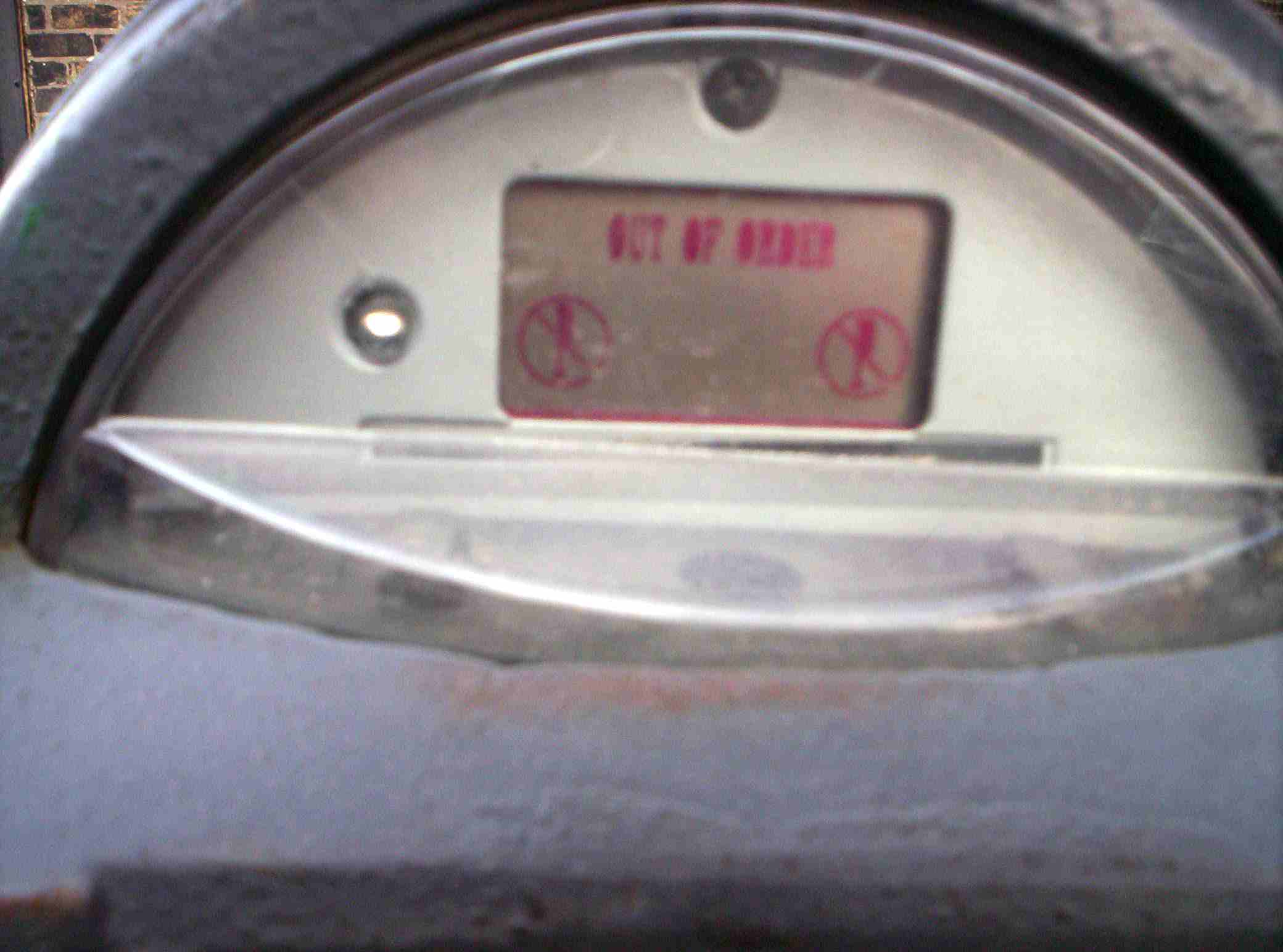 Out of Order meter