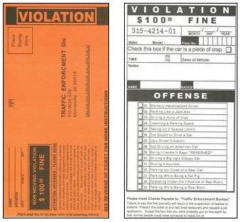 ... fake handicap parking ticket printable handicap zone parking ticket