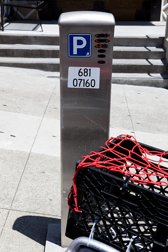 SF's motorcycle/scooter meters can be checked by enforcement from the street to see who has paid
