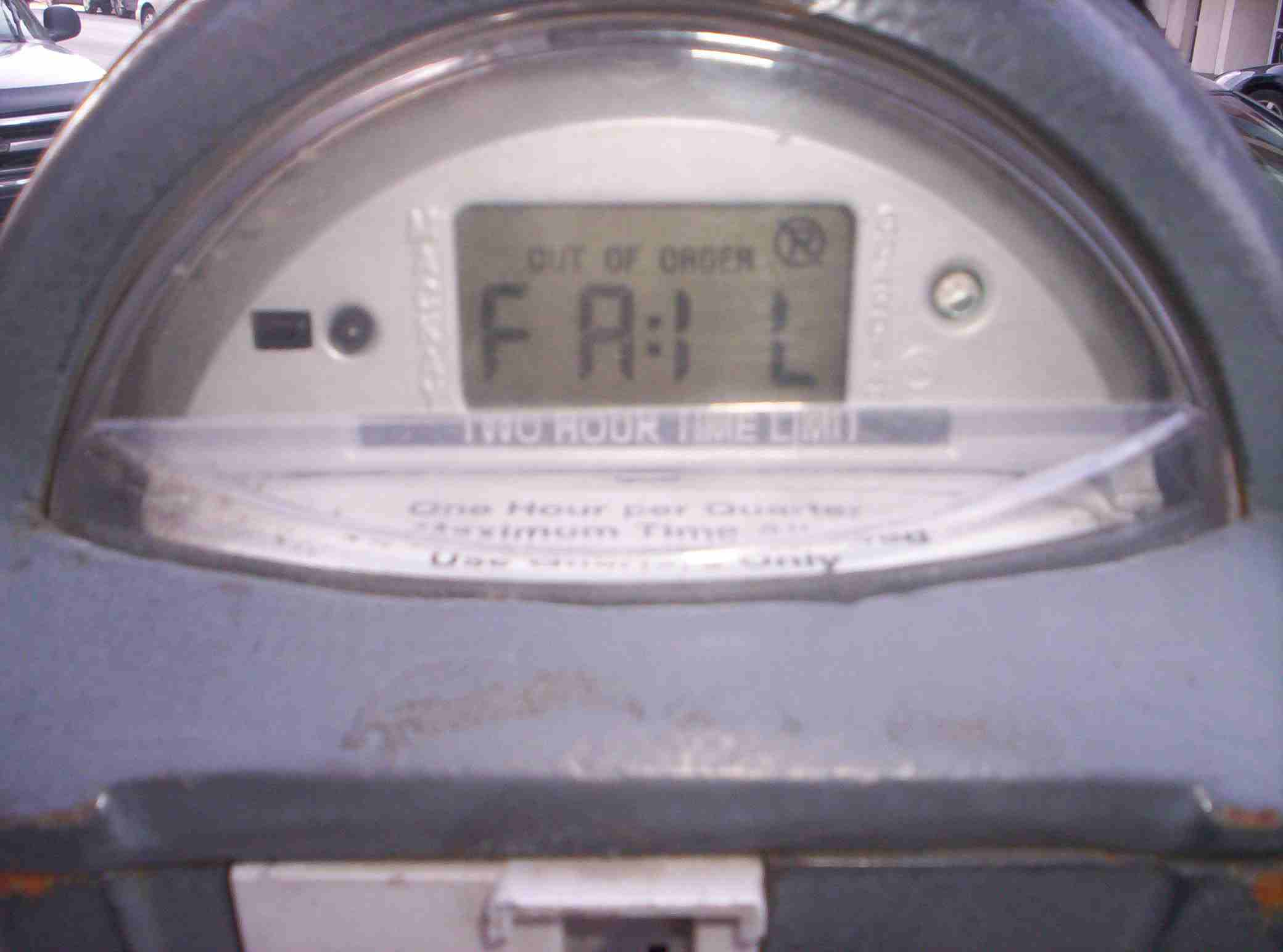 An old school parking meter from before the notorious Chicago parking meter lease came into being in 2008 adds its two cents.