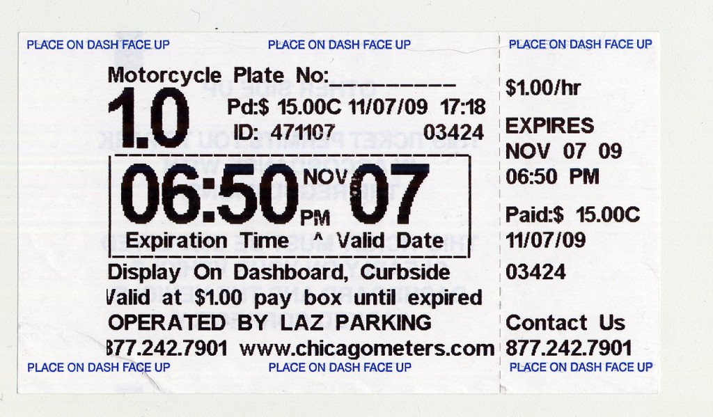 LAZ Parking reciept-11-07-09001