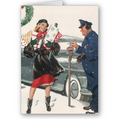 Parking Meter Christmas Card