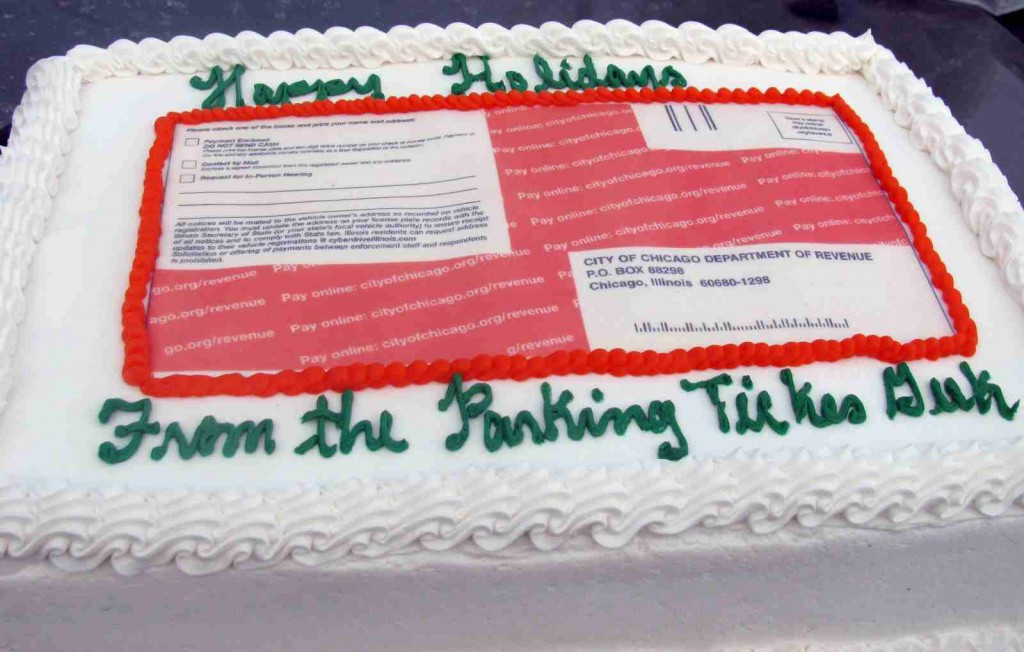 Parking Ticket Cake