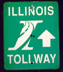 Illinois Tollway sign