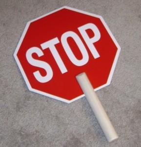 Stop sign handheld