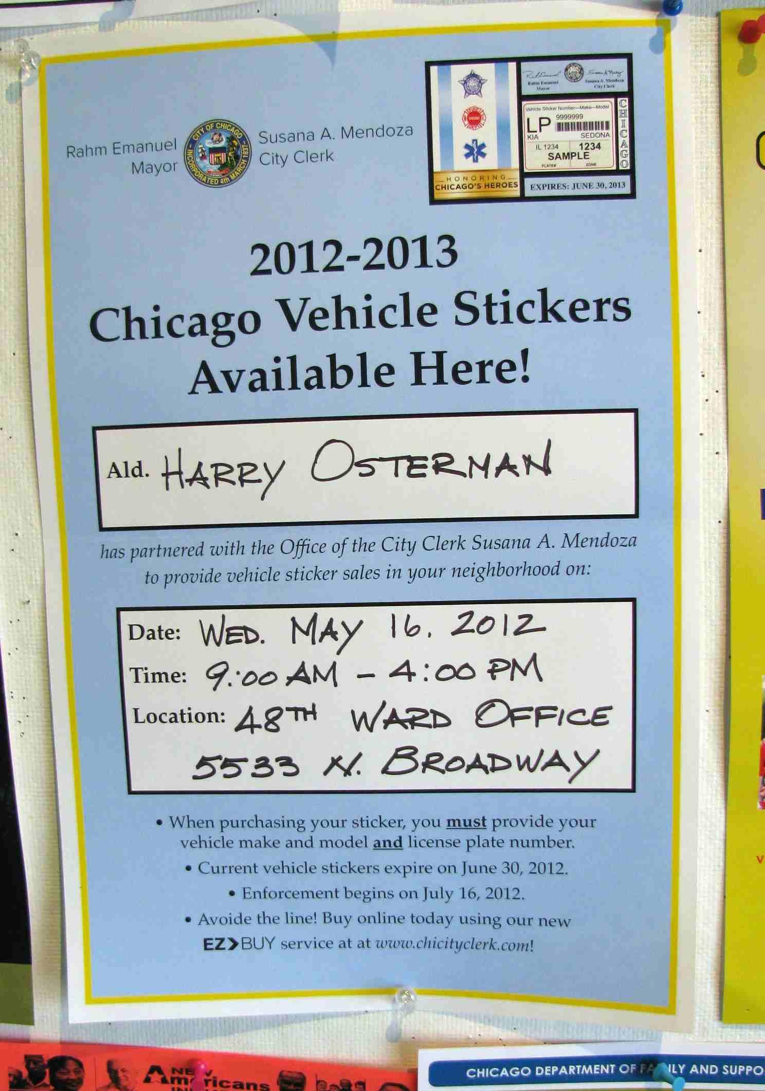 Car pass sticker design - It S