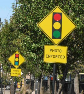 Double vision photo enforced signs
