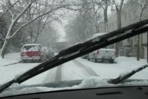 Driving snowstorm