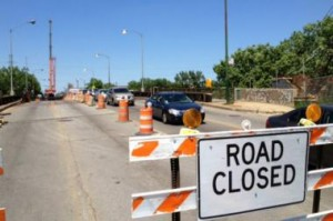 The second phase of construction on the Kedzie Street Bridge closed it to all traffic from the end of June to the present. Photo credit: DNA Info/Casey Cora.