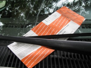 One of the approximately 2 million parking tickets issued every year in Chicago.