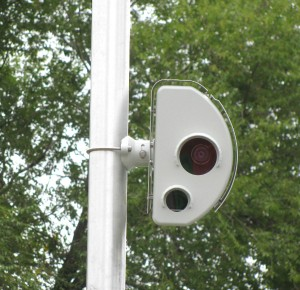 A speed camera near Douglas Park watches for speeders on Roosevelt Road.