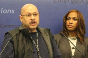 Streets and Sanitation Commissioner Charles Williams speaks to reporters Thursday.