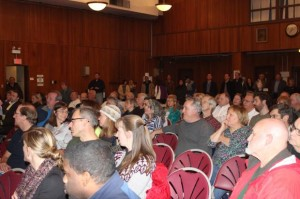 200 people showed up to hear from CDOT officials on possible changes to Milwaukee Avenue Monday. Photo credit: Heather Cherone/DNA Info.