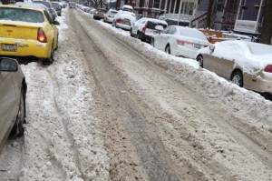 Many snow covered side streets remain unplowed according to residents and some aldermen. Photo credit: John O'Brien/DNA Info.
