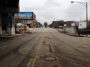 Ashland Avenue sans bridge Saturday afternoon. Photo credit: The606.