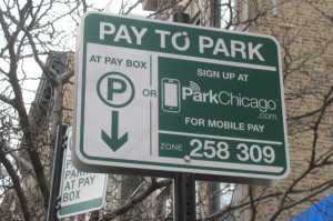 When you start seeing signs like this around areas you park, you can start using the ParkChicago app.