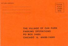 OakPark parking ticket