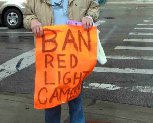 Red light  camera protest sign