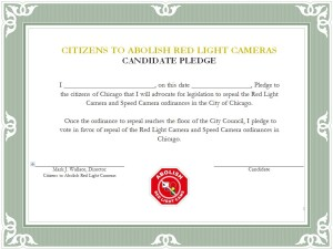Red Light Camera Pledge