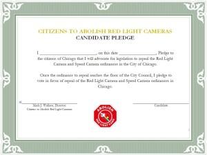 Red Light Camera Pledge