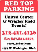 Red Top Parking sign