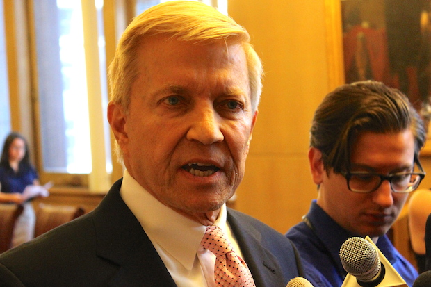Ald. Fioretti discusses his parking ticket amnesty proposal at City Hall. Photo credit: Ted Cox/DNA Info.