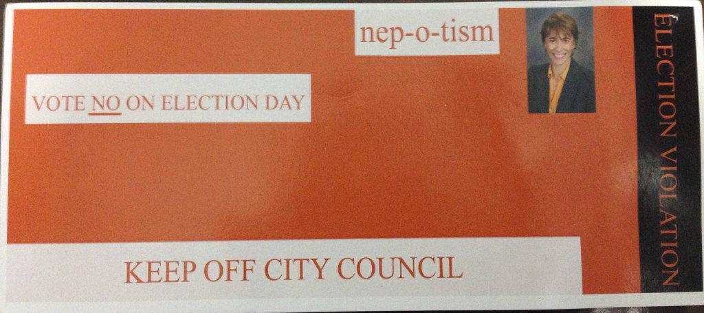 A fake parking ticket critical of Alderman Deb Mell popped up in the 33rd Ward before Tuesday's election.