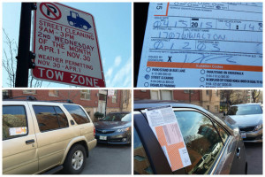 Street cleaning ticket confusion in the West Town neighborhood. Photo credit: Alisa Hauser/DNA Info.