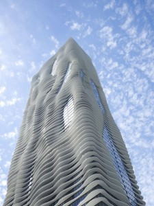 The beautifully designed Aqua Building cost city taxpayers $62 million because of botched decision to allow public parking there. Photo credit: Studio Gang.