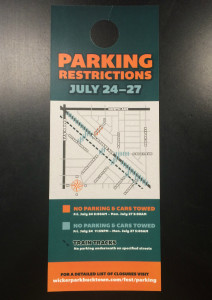 WP parking flier