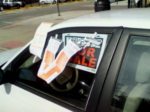 Parking your car with a For Sale sign in the window can turn out to be a lot more expensive than placing a classified ad.