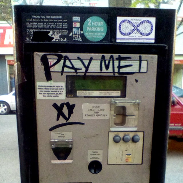 Pay Me! parking meter