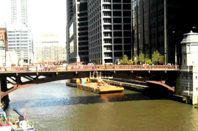 Construction on the Adams Street Bridge starts after the evening rush on Monday, January 25th. Photo credit: CDOT